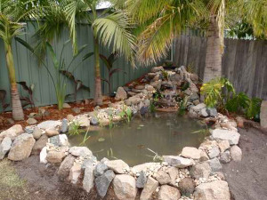 Garden pond construction